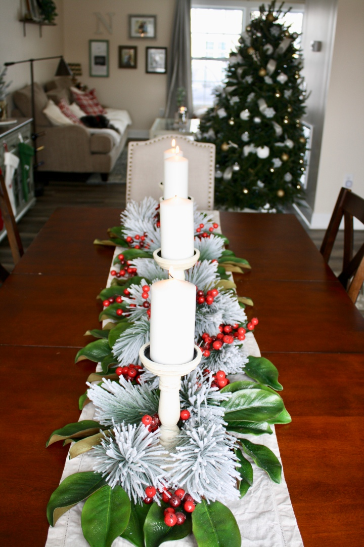 Magnolia Leaf Christmas Centerpiece