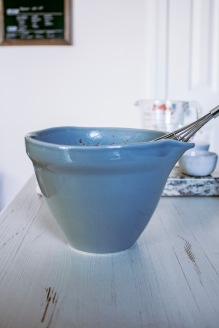 These bowls from pottery barn making pouring the batter so easy