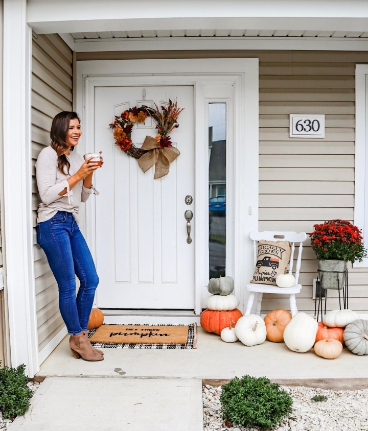Pumpkin Patch Fall Front Door