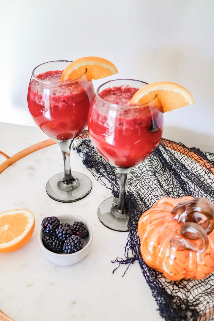 Witch's Brew: Blackberry + Blood Red Orange Skinny Cocktail