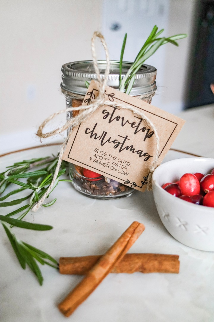 DIY Stovetop Christmas + Freebie Tags