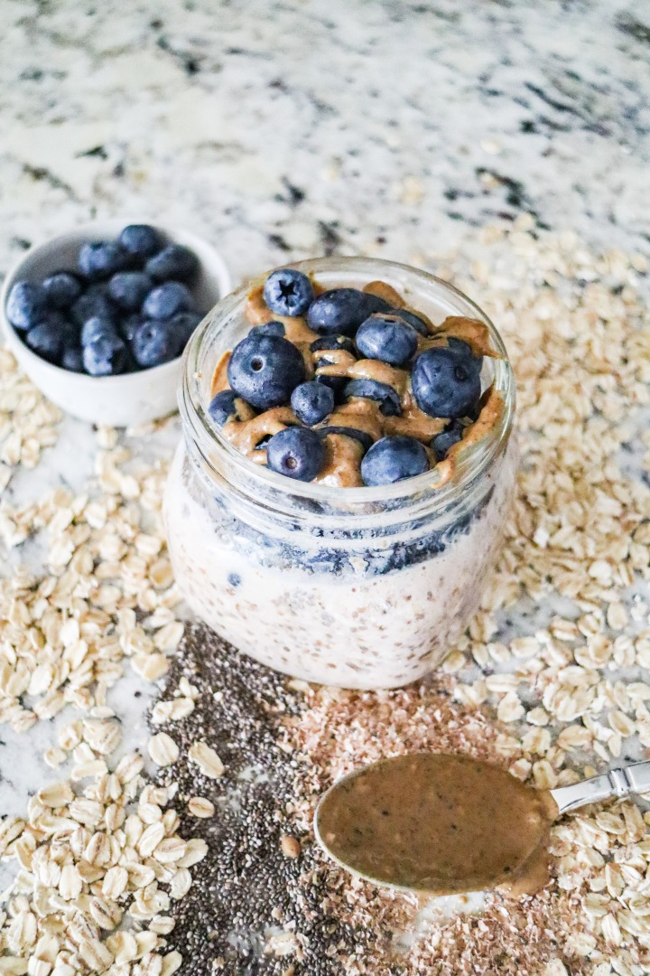 High Fiber Chia Seed Overnight Oats